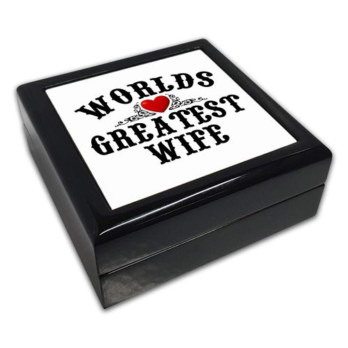 Worlds Greatest (Relation) Black Square Jewellery Box
